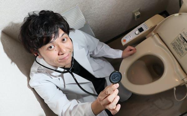 医師の石井洋介さん(写真 山本博文)