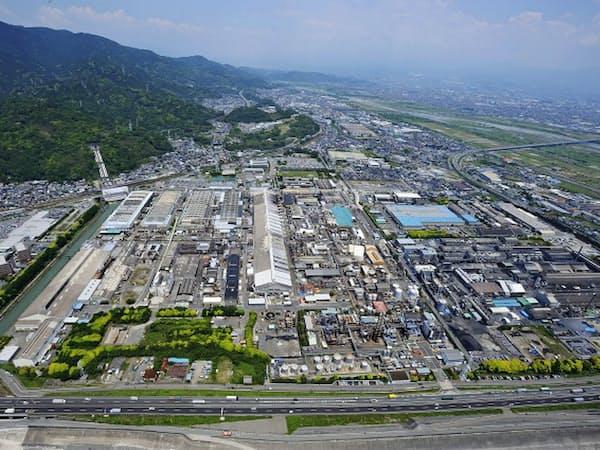 日本軽金属の蒲原製造所(静岡市)で車向けアルミ電線を増産する