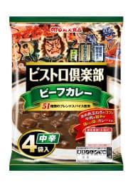 丸大食品が東北6県限定で発売する青森ねぶたデザインのレトルトカレー