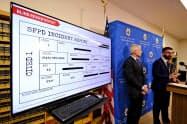AIによって電子捜査報告書から容疑者の氏名や人種、髪の色などを排除する=AP