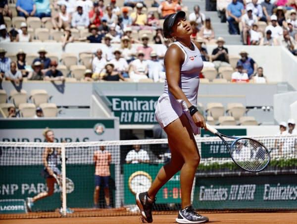 全仏テニスの大坂は高鳴る心臓の鼓動が聞こえてきそうなほど緊張していた=共同
