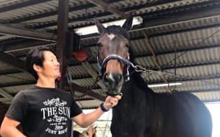 競走馬の再調教への寄付は集まるが、交流人口の拡大が課題だ(岡山県吉備中央町)