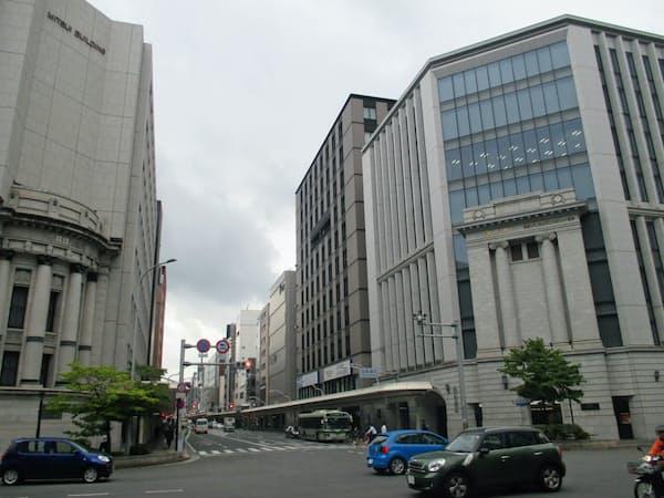 四条烏丸のオフィス向け不動産は特に人気が高く空きはほぼない(京都市下京区)