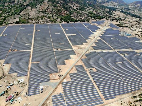 出光はベトナムで太陽光発電事業に参入した(ベトナムのカインホア省)
