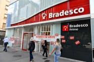 14日、ストにより閉鎖された銀行の店舗(サンパウロ)