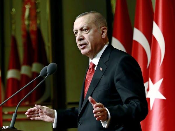 トルコのエルドアン大統領=AP
