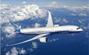 航空機部品には炭素繊維の採用が増えている(米ボーイングの旅客機「787」)