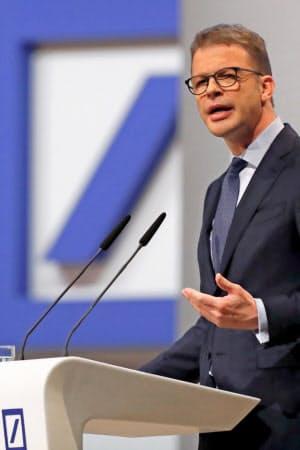 経営立て直しを急ぐドイツ銀行のゼービングCEO=ロイター