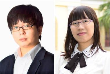 古川真人氏(写真左)と李琴峰氏=共同