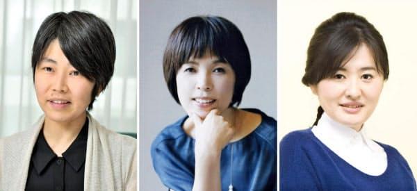 (写真左から)沢田瞳子氏、原田マハ氏=(C)森栄喜、柚木麻子氏=(C)岡本あゆみ(共同)