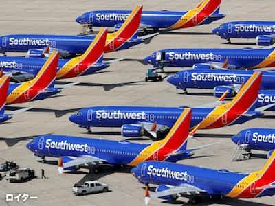 米サウスウエスト航空は、ボーイング737MAXの運航停止期間を延長した=ロイター