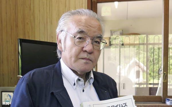 「アイヌ語ペンクラブ」を設立した萱野志朗さん(北海道平取町)=共同