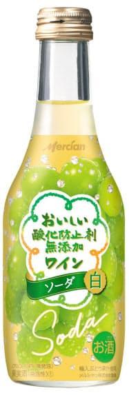 ほどよい発泡感が楽しめる「おいしい酸化防止剤無添加ワイン ソーダ 白」
