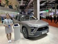 上海蔚来汽車が上海国際自動車ショーで展示した新エネ車(4月)