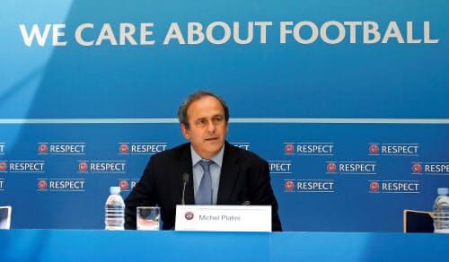 欧州サッカー連盟(UEFA)前会長で元フランス代表のミシェル・プラティニ氏=ロイター