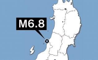 新潟県で震度6強 沿岸部に津波注意報