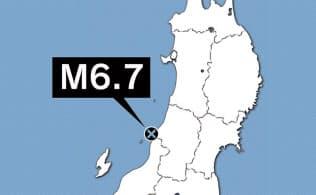 新潟県で震度6強 8000戸超停電、津波注意報は解除