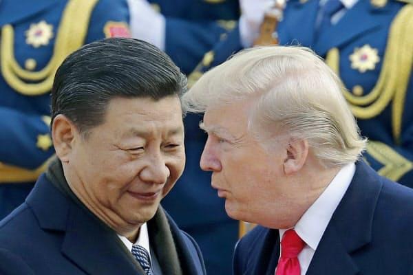 トランプ氏は中国側がどこまで譲歩するか見極める姿勢を示した(2017年11月、北京)