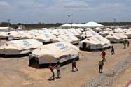 ベネズエラ難民が生活するコロンビアの難民キャンプ=ロイター