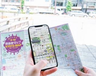 「京歩きマップ」は京都市の周遊促進に応用する