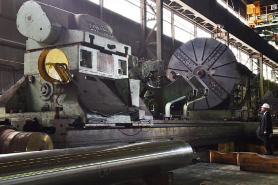 戦艦大和の主砲を削り出した独ワグナー社製の工作機械(兵庫県播磨町)