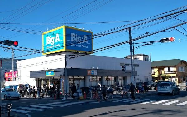 ビッグ・エーは消費増税、東日本大震災などを乗り越え、営業黒字を続けている