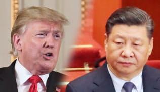 トランプ米大統領(左)と中国の習近平国家主席