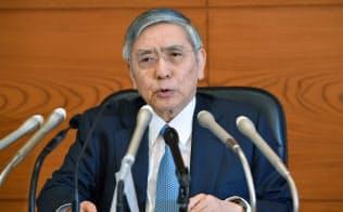 黒田総裁「物価上昇の勢い失えば追加緩和」