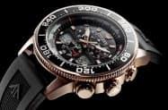 シチズン時計が7月に発売する「シチズン プロマスター エコ・ドライブ ヨットタイマー」(黒バンドモデル)