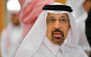 サウジアラビアのファリハ・エネルギー産業鉱物資源相はサウジアラムコの経費負担の恩恵を受けている=ロイター