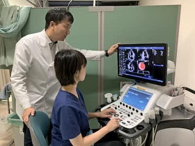 超音波による検査データを解析して心不全の兆候を早期に見つける=徳島大提供