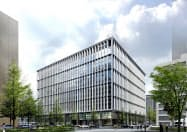 新本部ビルの低層部には磁器タイルなどを採用する(完成イメージ)