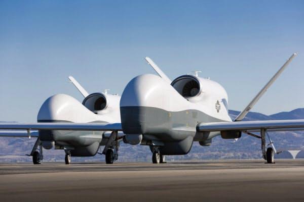 米側が撃墜されたと指摘した無人機「MQ-4Cトライトン」の同型機=ロイター