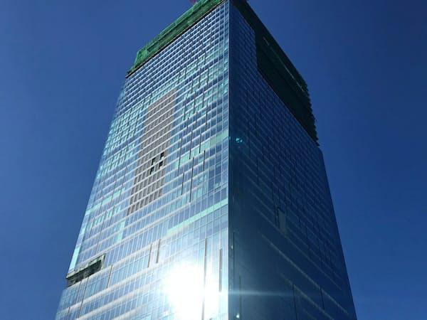 11月に開業する渋谷スクランブルスクエアは高さ約230メートルと渋谷で最高峰となる(2018年の建設途中)