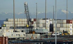 米中貿易摩擦が激化するなか、米商務省は禁輸対象を拡大した(5月、米ワシントン州)=AP