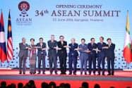 ASEAN首脳会議でW杯の誘致に合意した(23日、バンコク)=石井理恵撮影