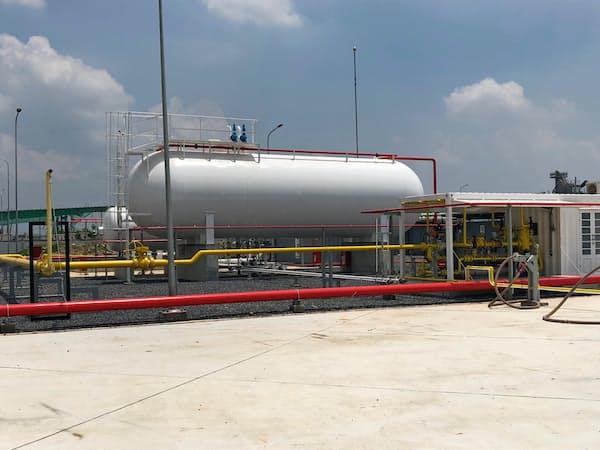 双日と大阪ガスは今後、ベトナムの工業団地向けにガスの安定供給を目指す(ベトナムで双日が手掛けるガス施設)