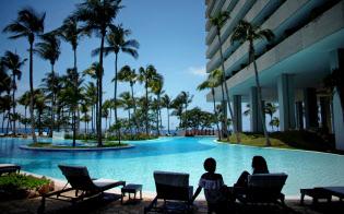 キューバの観光産業に影響が及ぶ可能性がある(ハバナのホテル)=ロイター