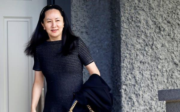 ファーウェイの孟CFOはカナダで保釈中(5月8日)=ロイター