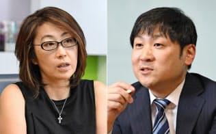 島田氏(左)と曽和氏