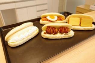 総菜系やおやつ系など約50種類のコッペパンをそろえる