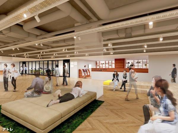 茨城県取手市などがオープン予定の複合文化交流施設「たいけん美じゅつ場」のイメージ図(アトレ提供)