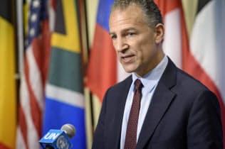 米国のコーエン国連大使代行(24日、ニューヨーク)=国連提供