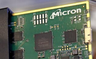 半導体メモリーを主力とする米マイクロンはファーウェイ向けの出荷を一部再開した=ロイター