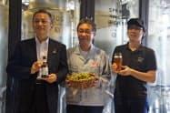 キリンビールの「ムラカミ・セブン」を使用したクラフトビールを発売する(キリンビールの都内にあるクラフトビール専門店)