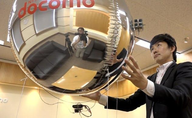 直径90センチメートル程度の機体にヘリウムガスを充填している