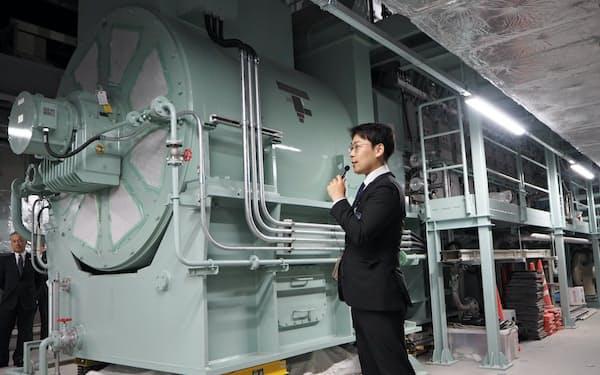 「北ガス札幌発電所」は北海道ガス新本社の地下に設置されている(札幌市)