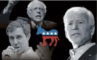 米民主党の候補指名争いは20人以上が名乗りをあげる激戦だ(コラージュ、写真はロイター)