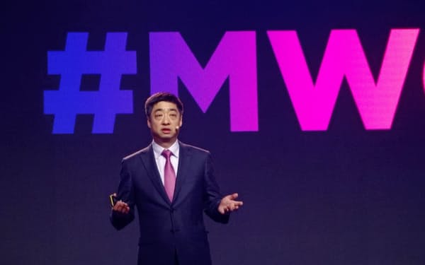 MWC上海で講演する華為技術のケン・フー副会長