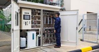IHIがシンガポールに設置したメタネーション試験装置